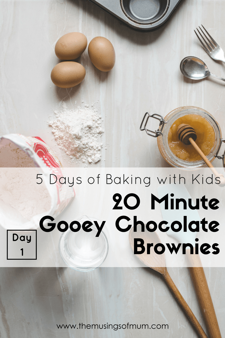 20 Minute Gooey Chocolate Brownies