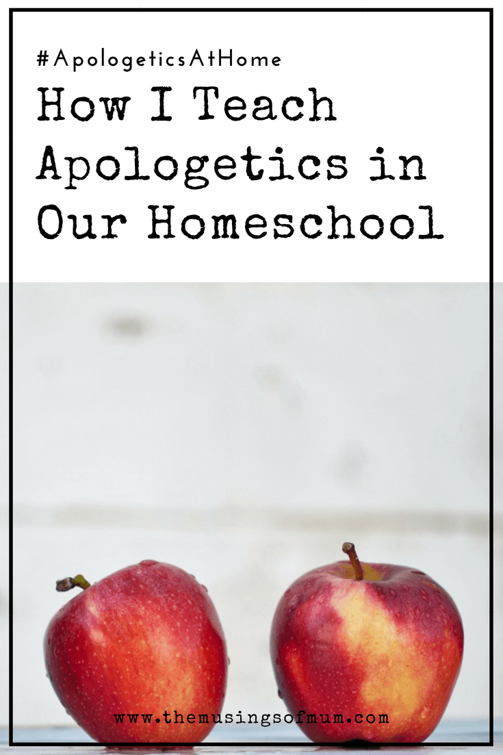How I Teach Apologetics in Our Homeschool - I've seen a rapid increase in the number of kids we once knew as good church kids, walk away from the church and from Christ. This realization, prompted me to be more intentional about preparing my girls to defend their faith in the event it would ever be questioned. I formally introduced apologetics in our homeschool this spring.