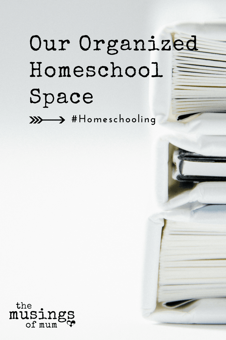 Our Organized Homeschool Space - I'm obsessive when it comes to organization. This month, I let the OCD tendencies completely take over when reorganizing our homeschool space.