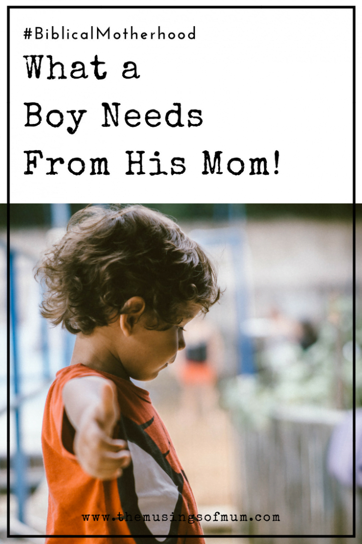 What a Boy Needs From Mom! - What exactly DO boys need from Mom? I know how crucial a dad (or other father figure) in a boy's life is, but what about Mom?