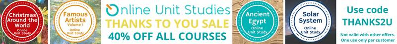 EOnline Unit Studies Thanks 4U Sale