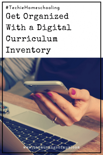 Get Organized With a Digital Curriculum Inventory - Having a digital file you can take with you everywhere you go, will save you time and money. Today, I'm sharing 3 ways to keep track of all the good stuff.