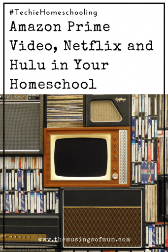 Amazon Prime Video, Netflix and Hulu in Your Homeschool - One of the simplest ways to add tech in your homeschool, is through video subscription services like Amazon Prime Video, Netflix and Hulu.